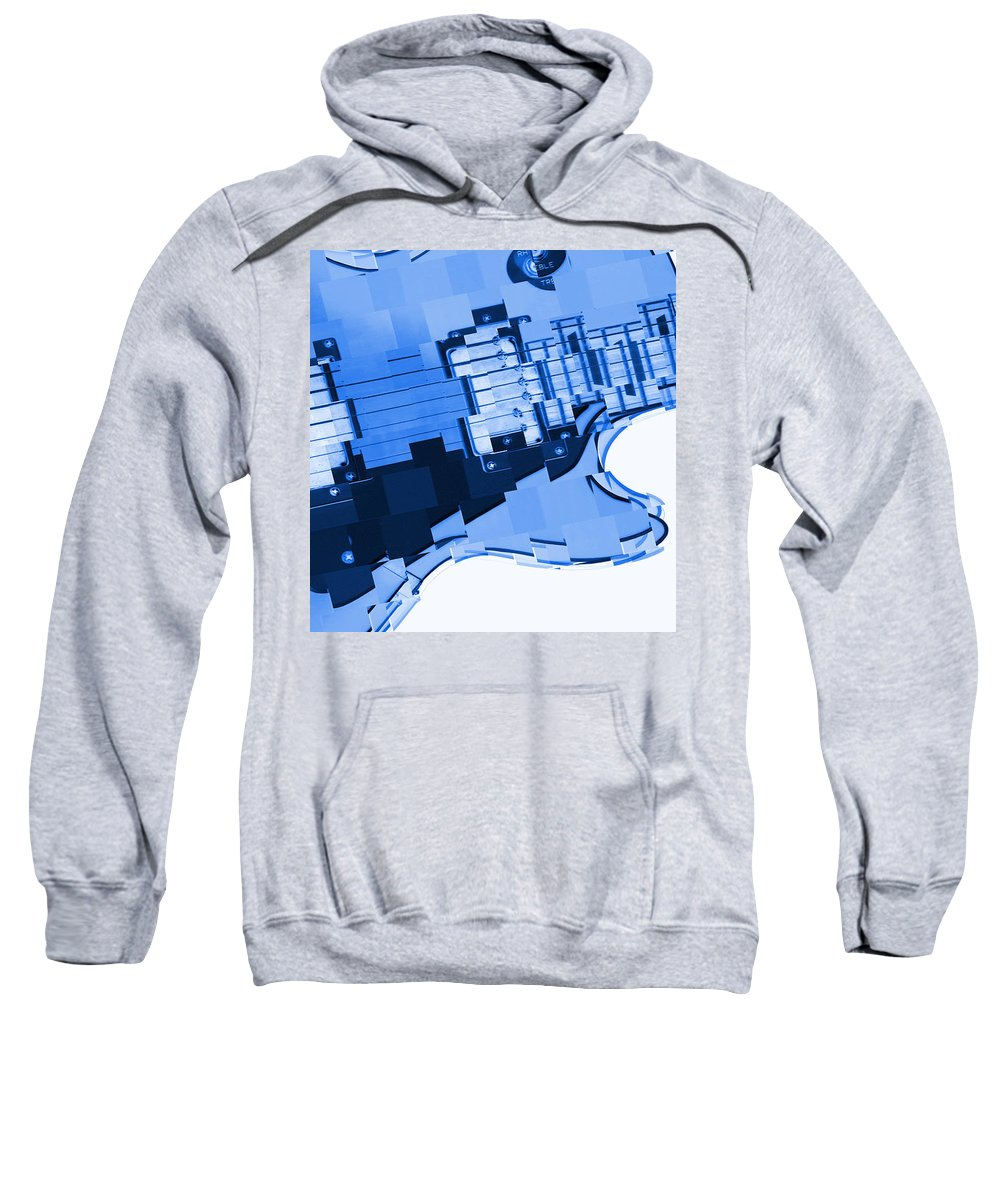 Abstract Guitar Sweatshirt featuring the photograph Abstract Guitar In Blue 2 by Mike McGlothlen