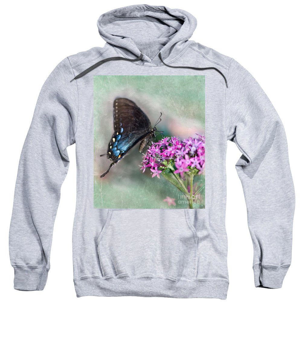 Pipevine Swallowtail Sweatshirt featuring the photograph Life Is Sweet by Betty LaRue