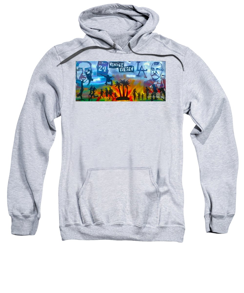 Mermaid Sweatshirt featuring the painting Life's A Beach by Tony B Conscious