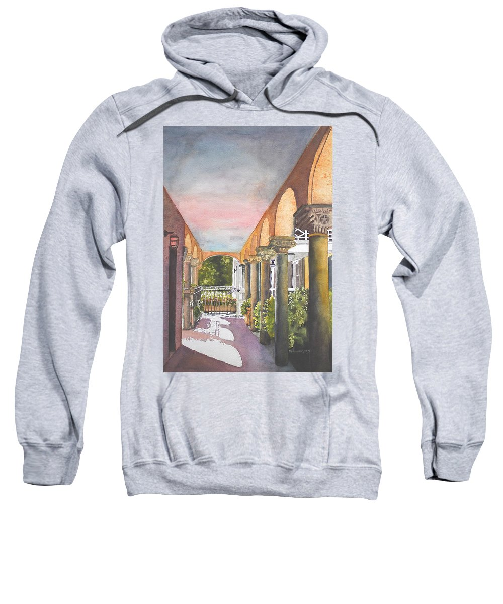 Deering Estate Sweatshirt featuring the painting Light And Shadows by Terry Arroyo Mulrooney