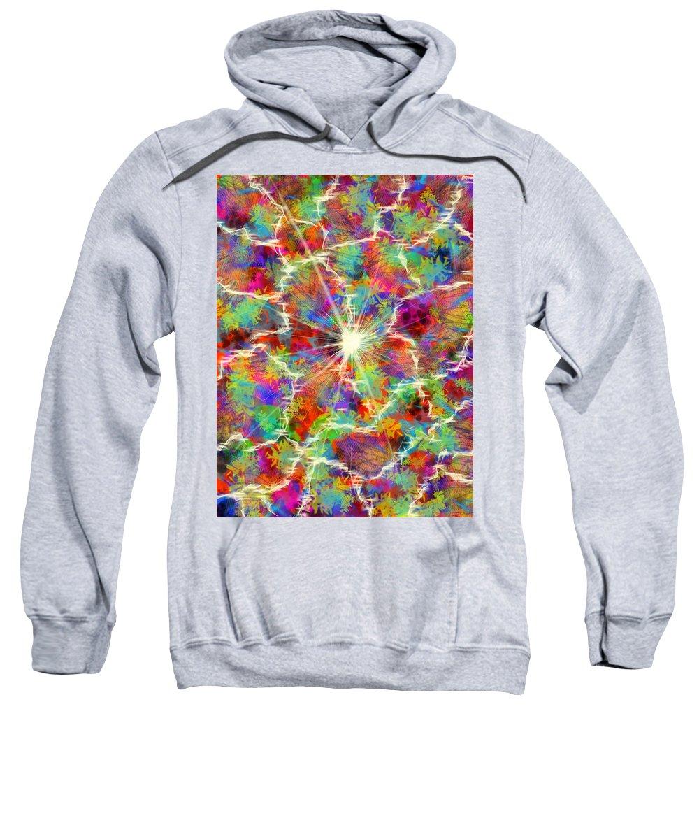 Sweatshirt featuring the digital art Light True by Mathieu Lalonde