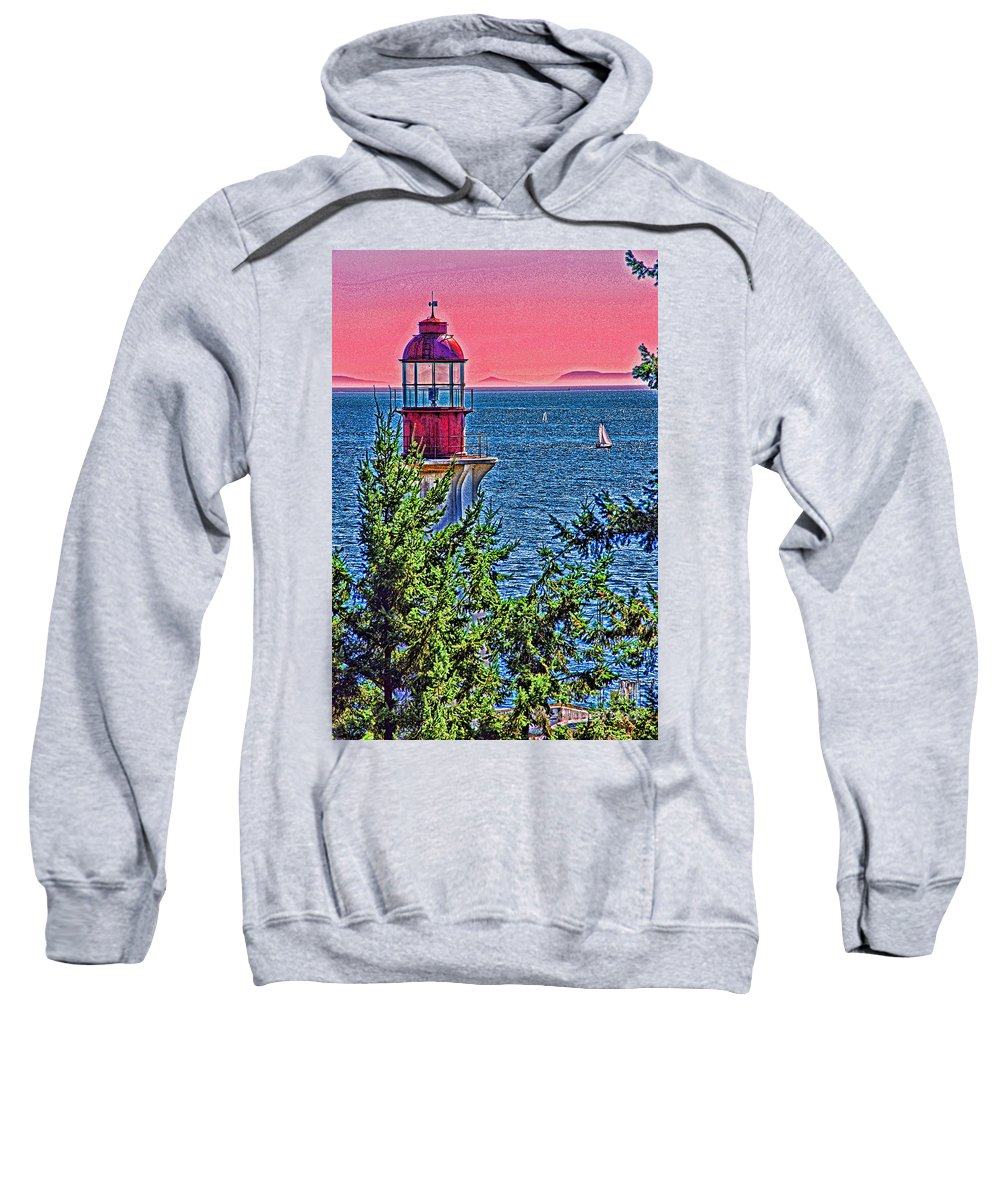 Lighthouses Sweatshirt featuring the photograph Lighthouse Hdr by Randy Harris