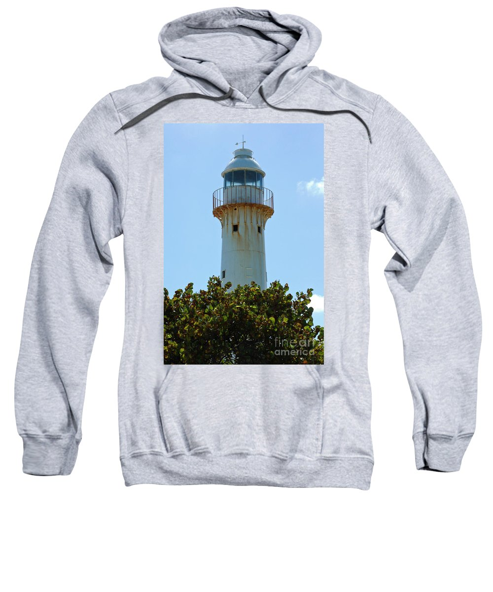 Lighthouse Sweatshirt featuring the photograph Lighthouse On Grand Turk 2 by Vivian Christopher