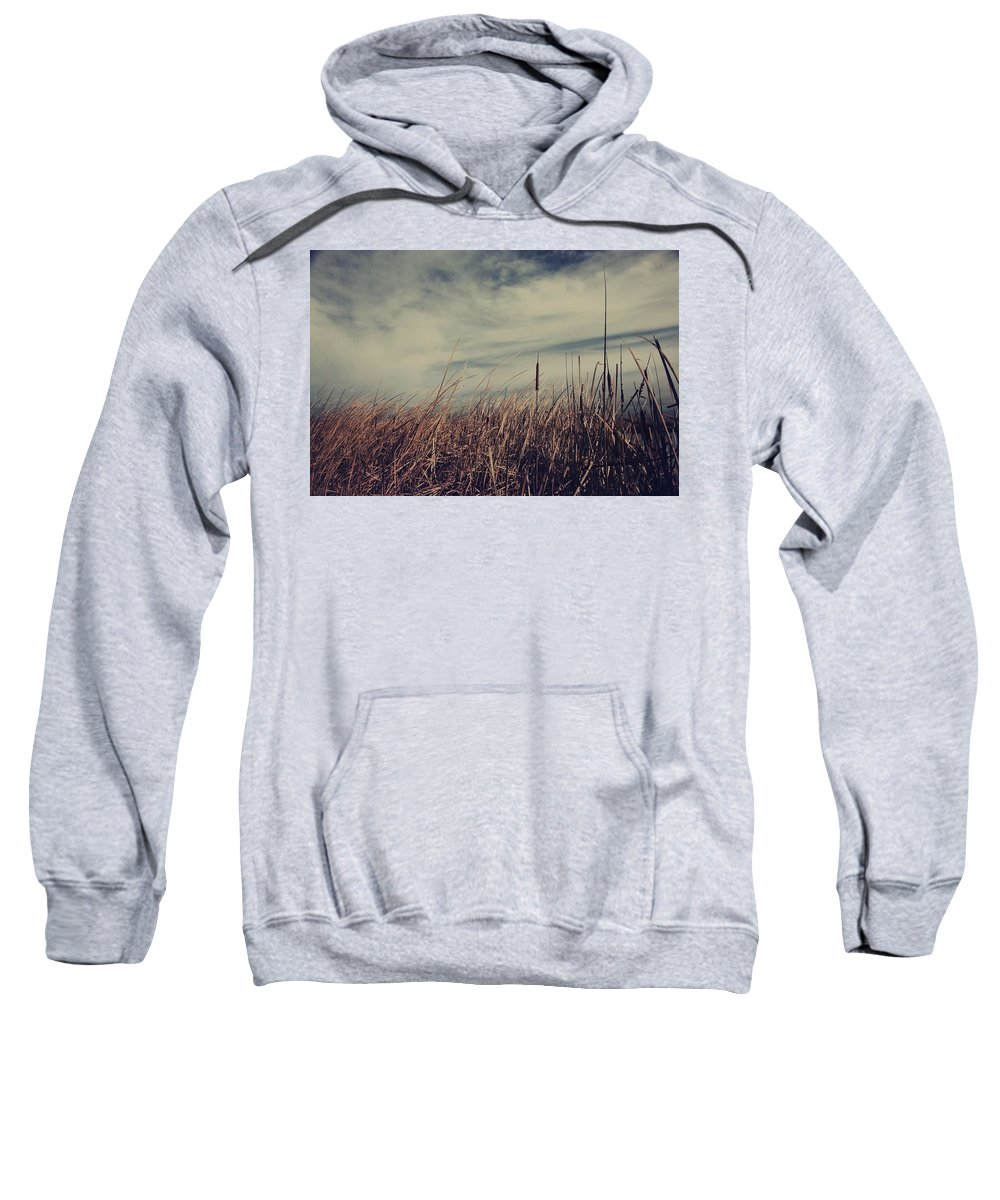 Cattails Sweatshirt featuring the photograph Like The Way You Used To Run Your Fingers Through My Hair by Laurie Search