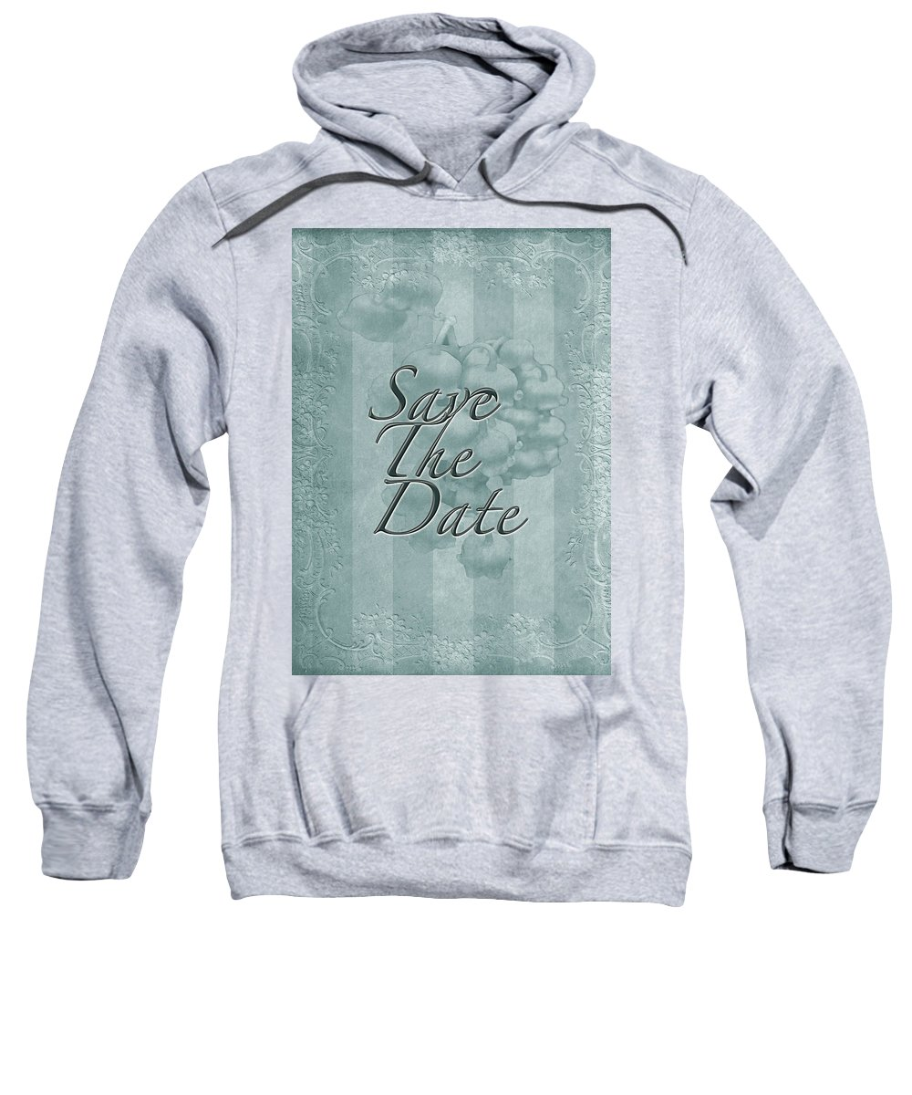 Save The Date Sweatshirt featuring the photograph Lily Of The Valley Save The Date Greeting Card by Mother Nature