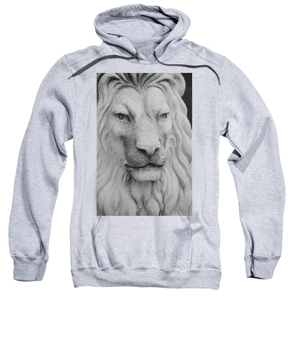 Lion Sweatshirt featuring the photograph Lion In Stone by Rob Hans