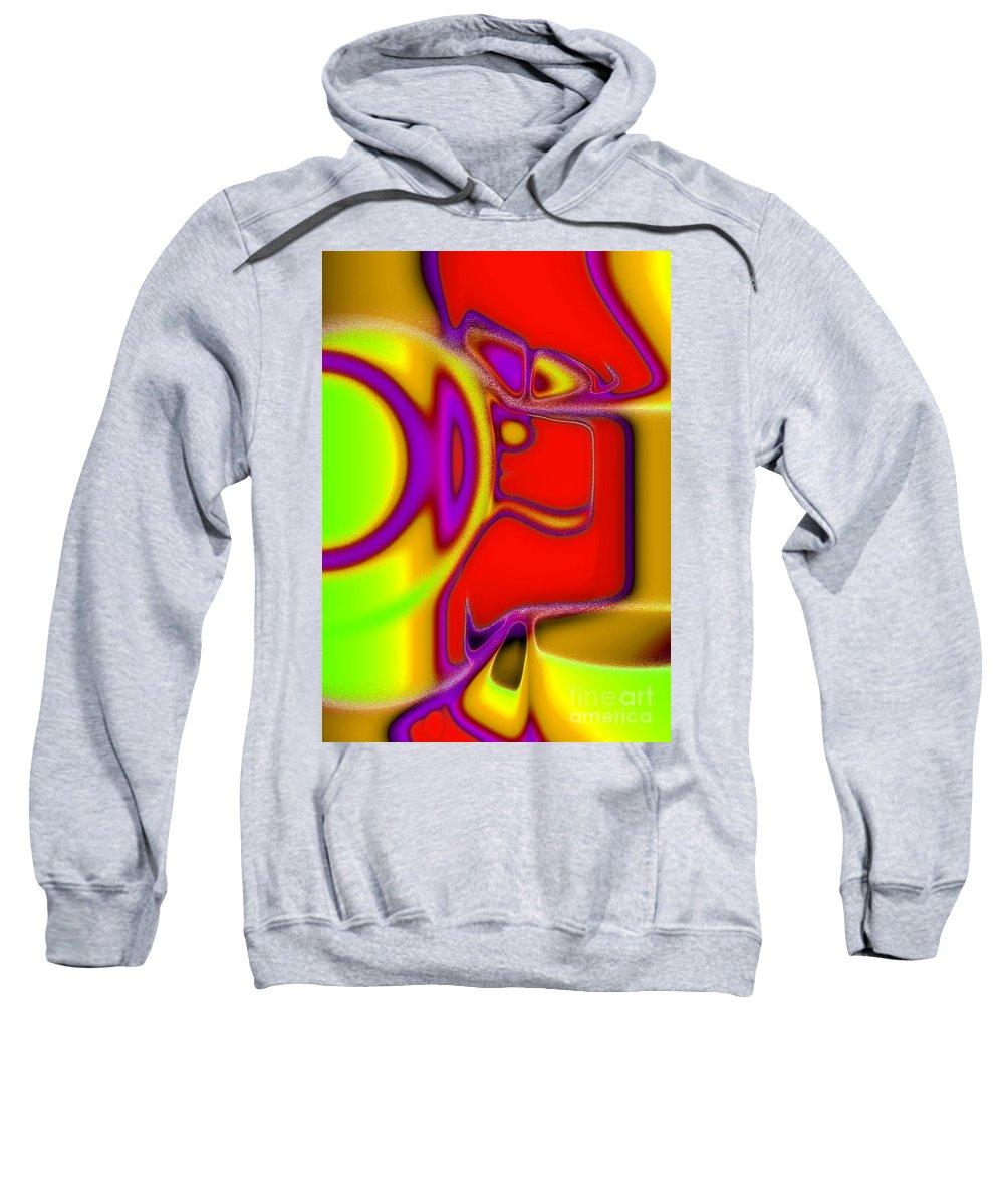 Fairy Tale Sweatshirt featuring the digital art Little Jack Horner by Tom Hubbard