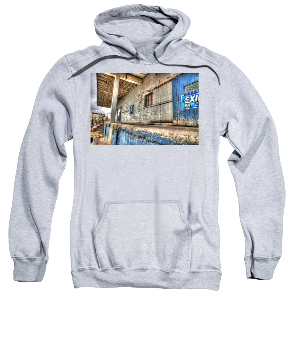 Acrylic Prints Sweatshirt featuring the photograph Loading Dock by John Herzog