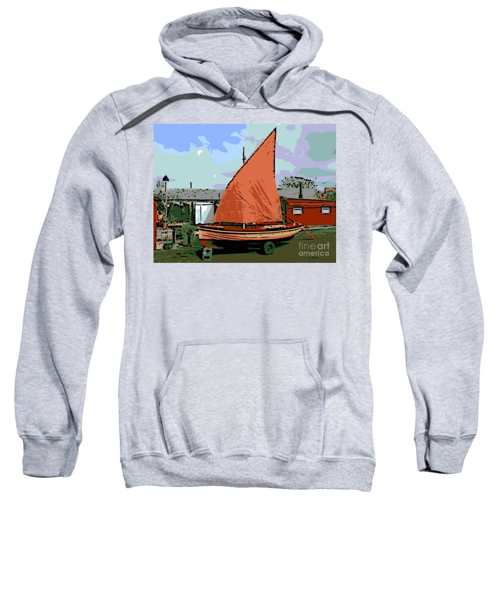 Lobster Boat Sweatshirt featuring the photograph Lobster Boat by George Pedro