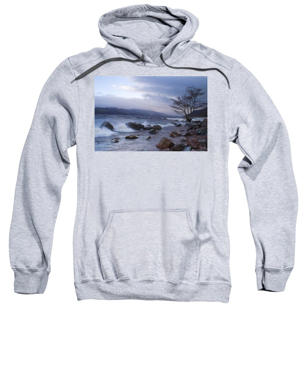 Loch Ness Sweatshirt featuring the photograph Loch Ness Shoreline At Dusk by Howard Kennedy