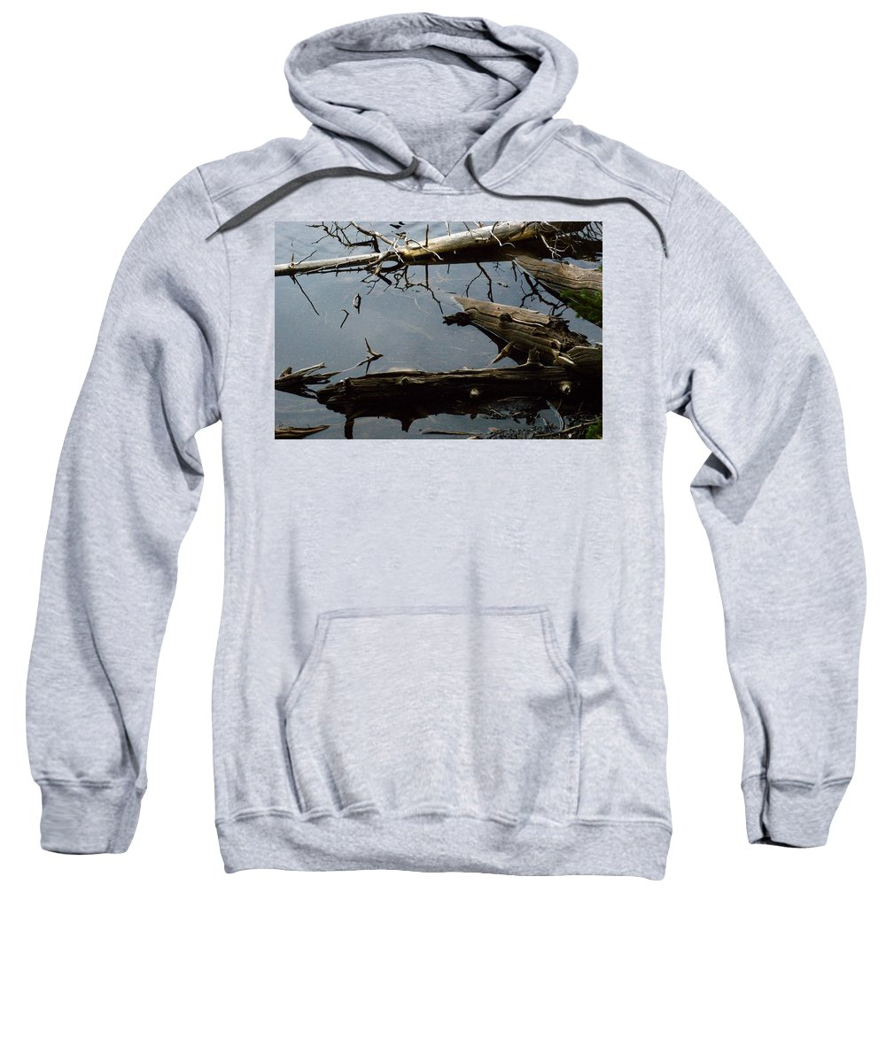 Drift Wood Sweatshirt featuring the photograph Log Jam by Brian Kerls