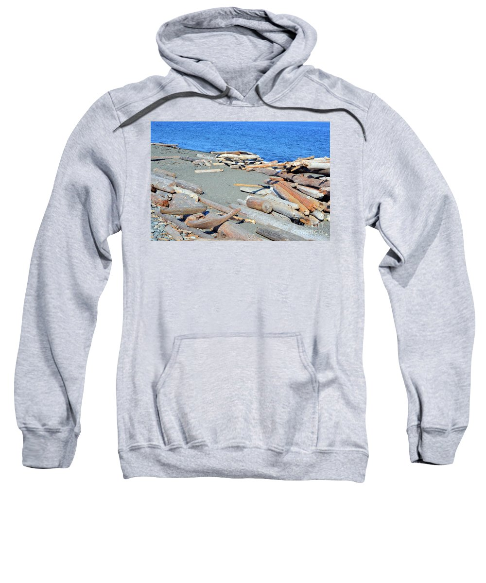 British Columbia Sweatshirt featuring the photograph Logged Out by Traci Cottingham