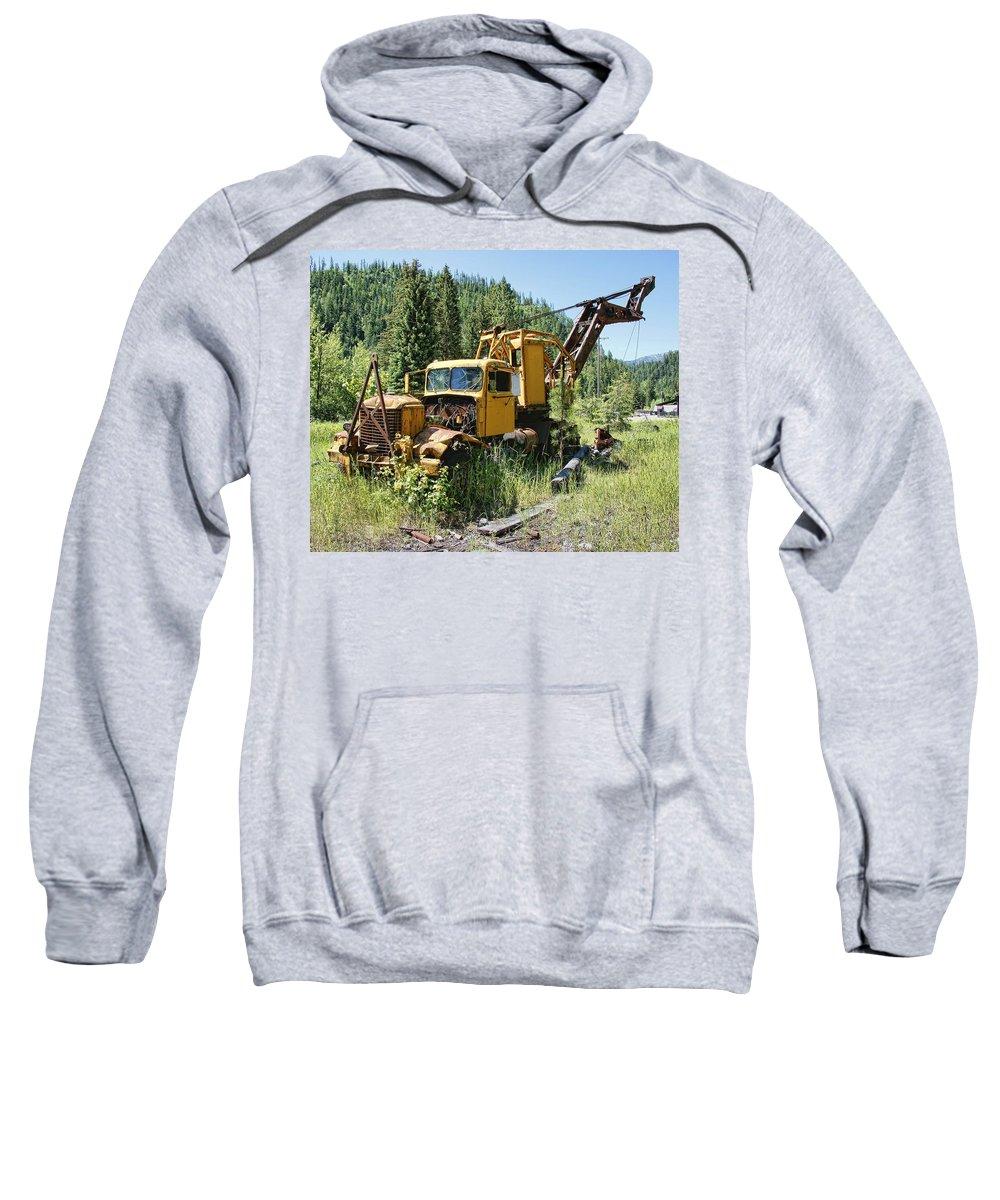 Truck Sweatshirt featuring the photograph Logging Truck 2 - Burke Idaho Ghost Town by Daniel Hagerman