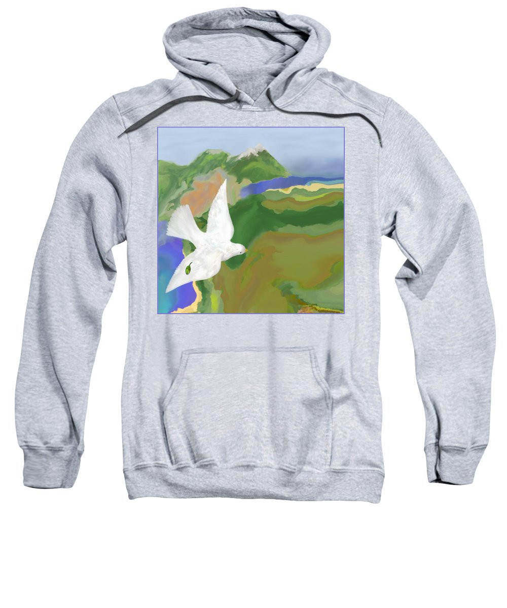 Dove Sweatshirt featuring the digital art Long Journey Home by Mathilde Vhargon