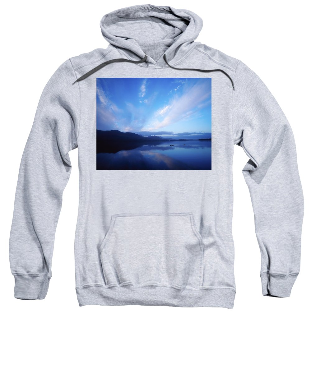 Cloudy Sweatshirt featuring the photograph Lough Leane, Lakes Of Killarney by The Irish Image Collection