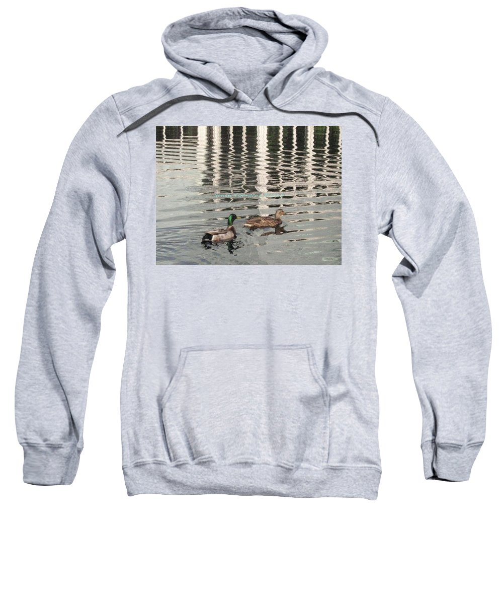 Pair Of Ducks Sweatshirt featuring the photograph Lovely Pair by Sonali Gangane