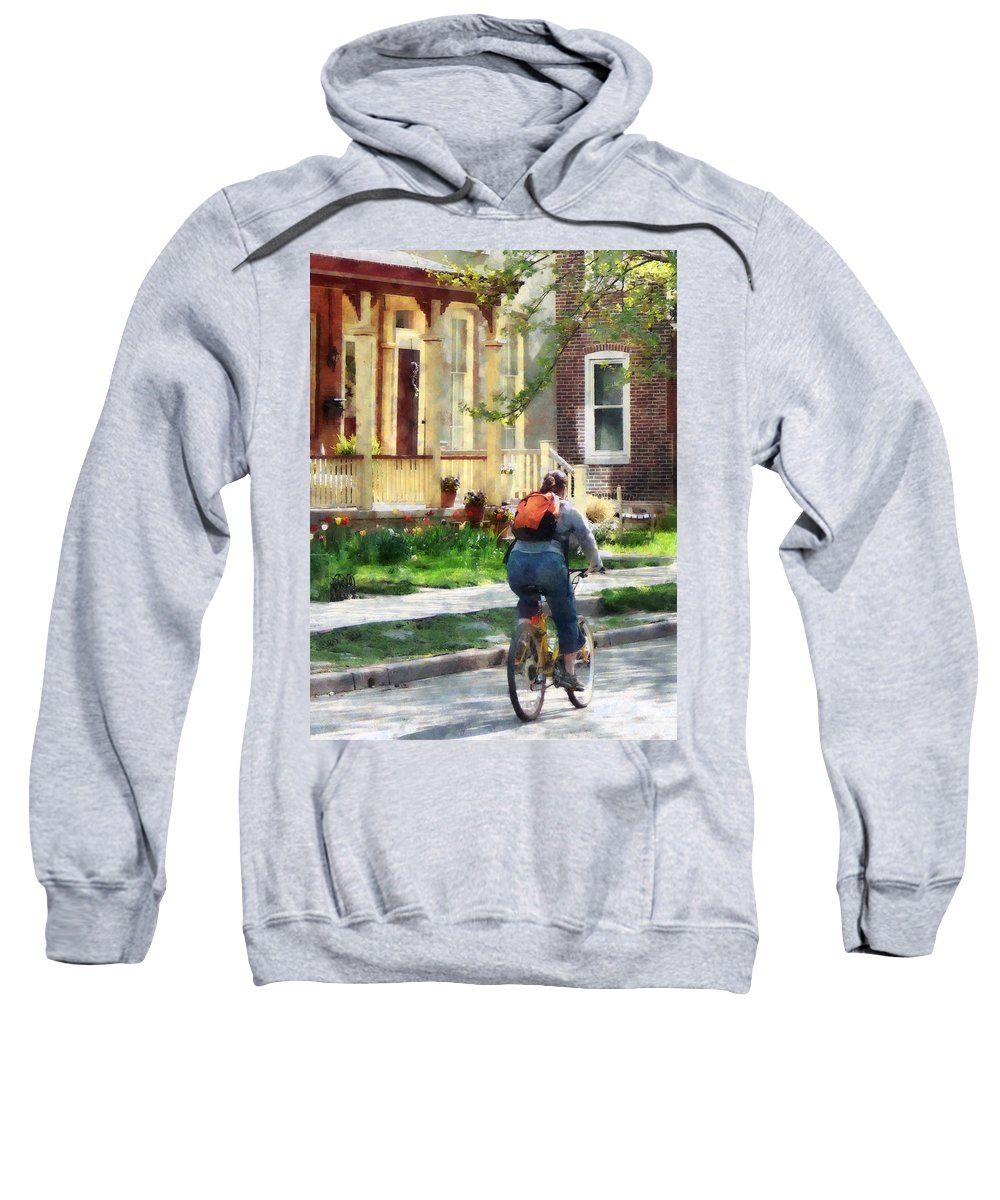 Bicycle Sweatshirt featuring the photograph Lovely Spring Day For A Ride by Susan Savad
