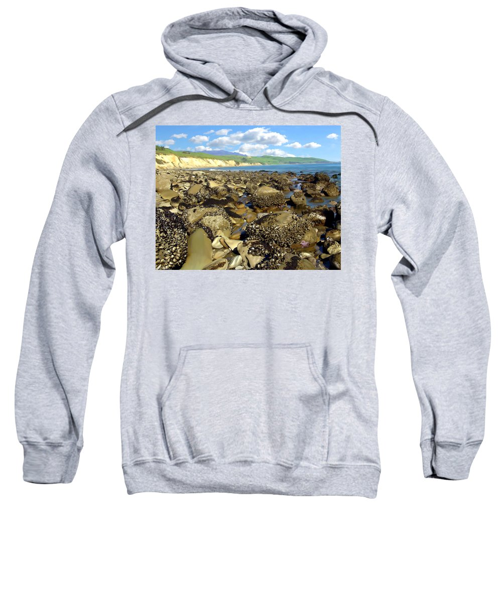 Seascape Sweatshirt featuring the photograph Low Tide At Gaviota by Kurt Van Wagner