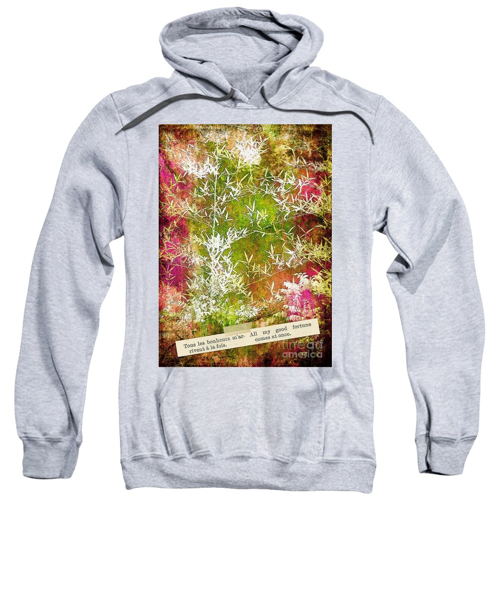 Lucky Sweatshirt featuring the photograph Lucky Bamboo by Judi Bagwell