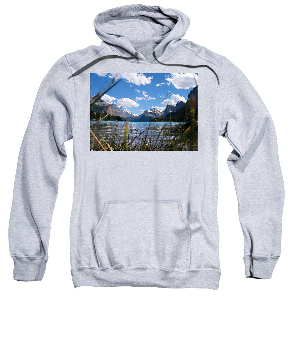 Maligne Lake Sweatshirt featuring the photograph Maligne Lake by Joe Schofield