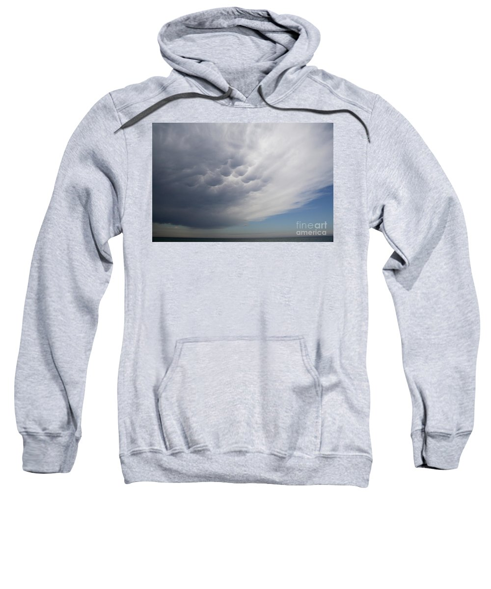 Weather Sweatshirt featuring the photograph Mammatiform Clouds by Ted Kinsman