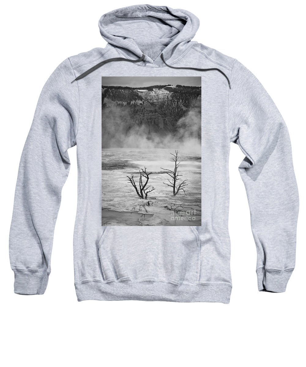 Hot Sweatshirt featuring the photograph Mammoth Hot Spring by Olivier Steiner
