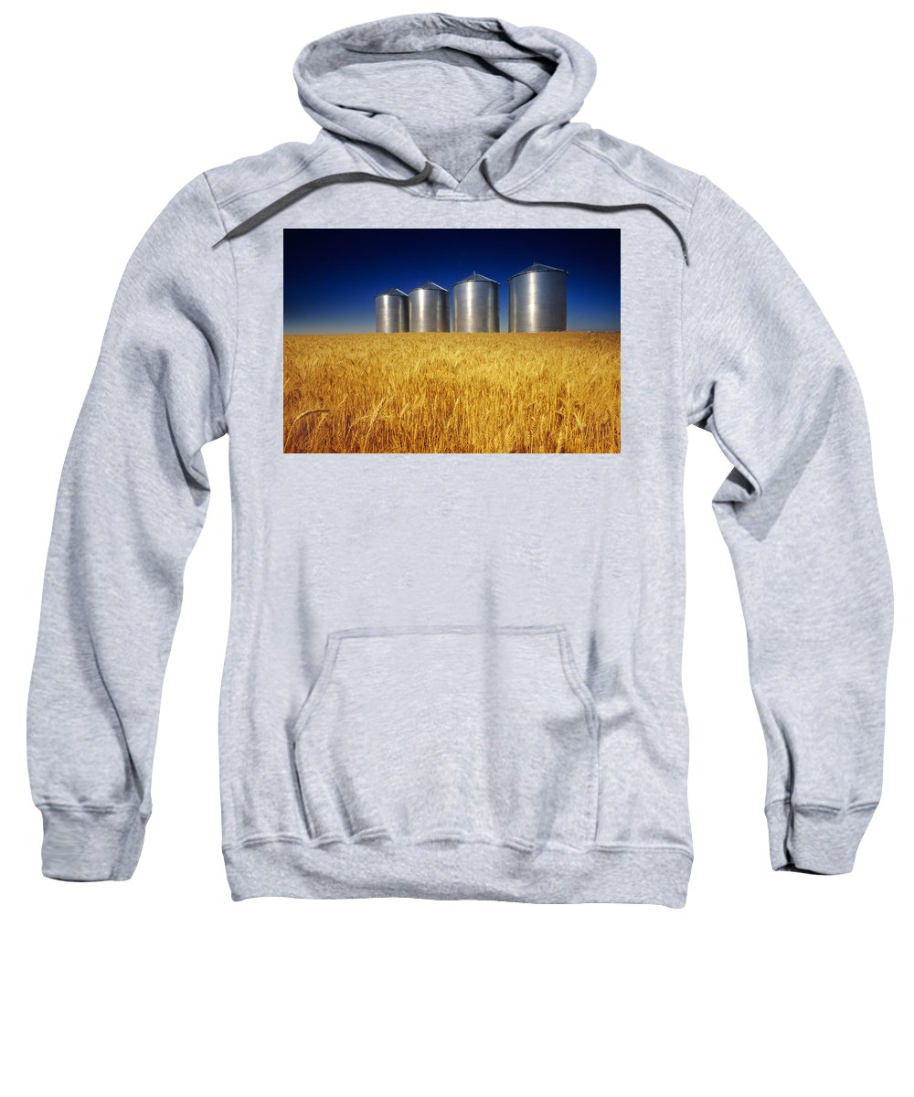 Daytime Sweatshirt featuring the photograph Mature Winter Wheat Field With Grain by Dave Reede