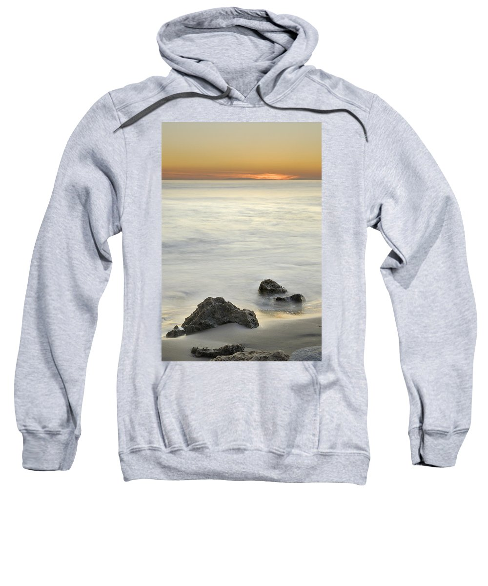 Seascape Sweatshirt featuring the photograph Mediterranean Sunset by Guido Montanes Castillo