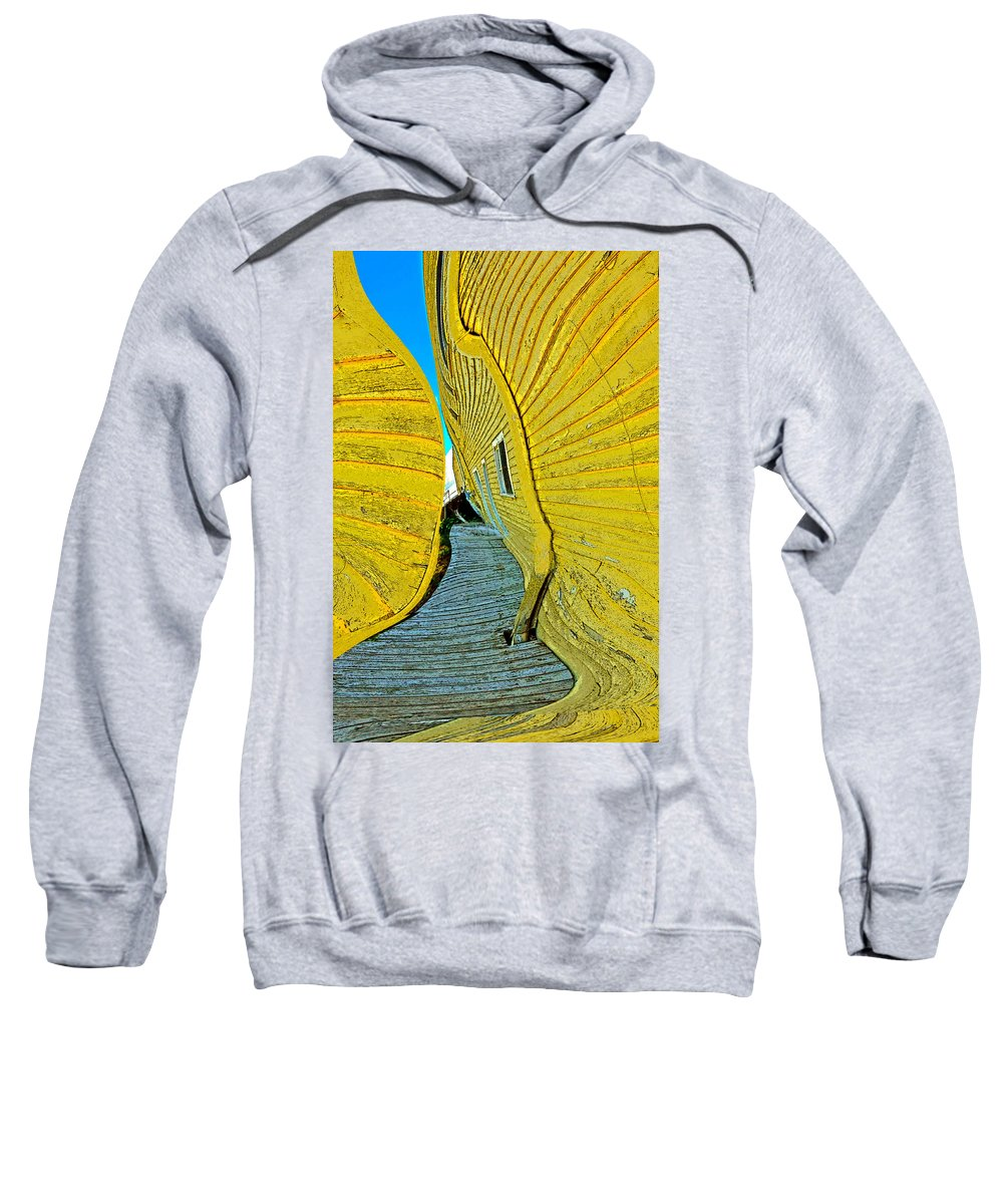 Yellow Sweatshirt featuring the photograph Mellow Yellow by Terry Anderson