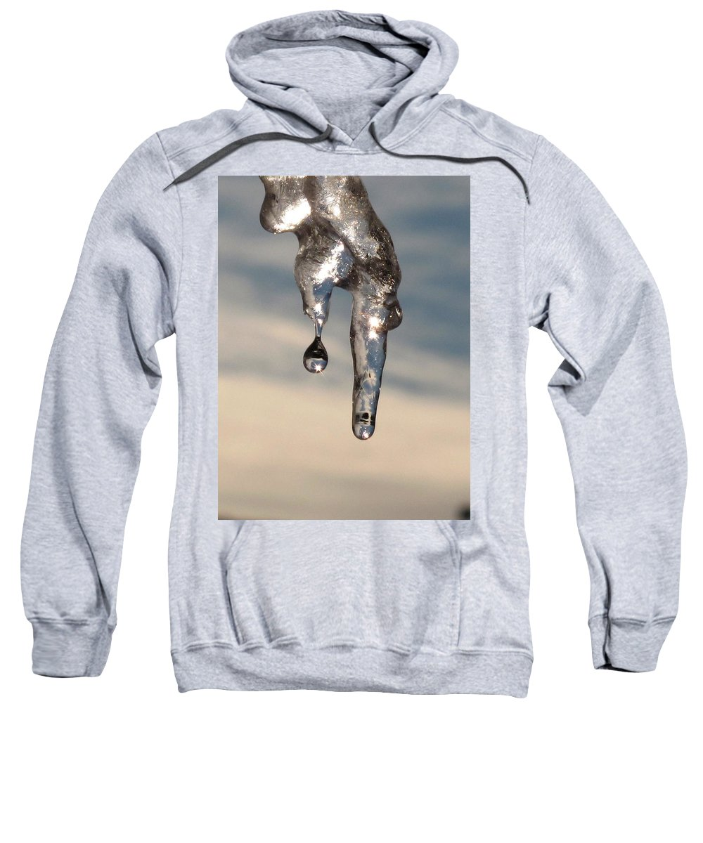 Ice Sweatshirt featuring the photograph Melting by Michele Nelson