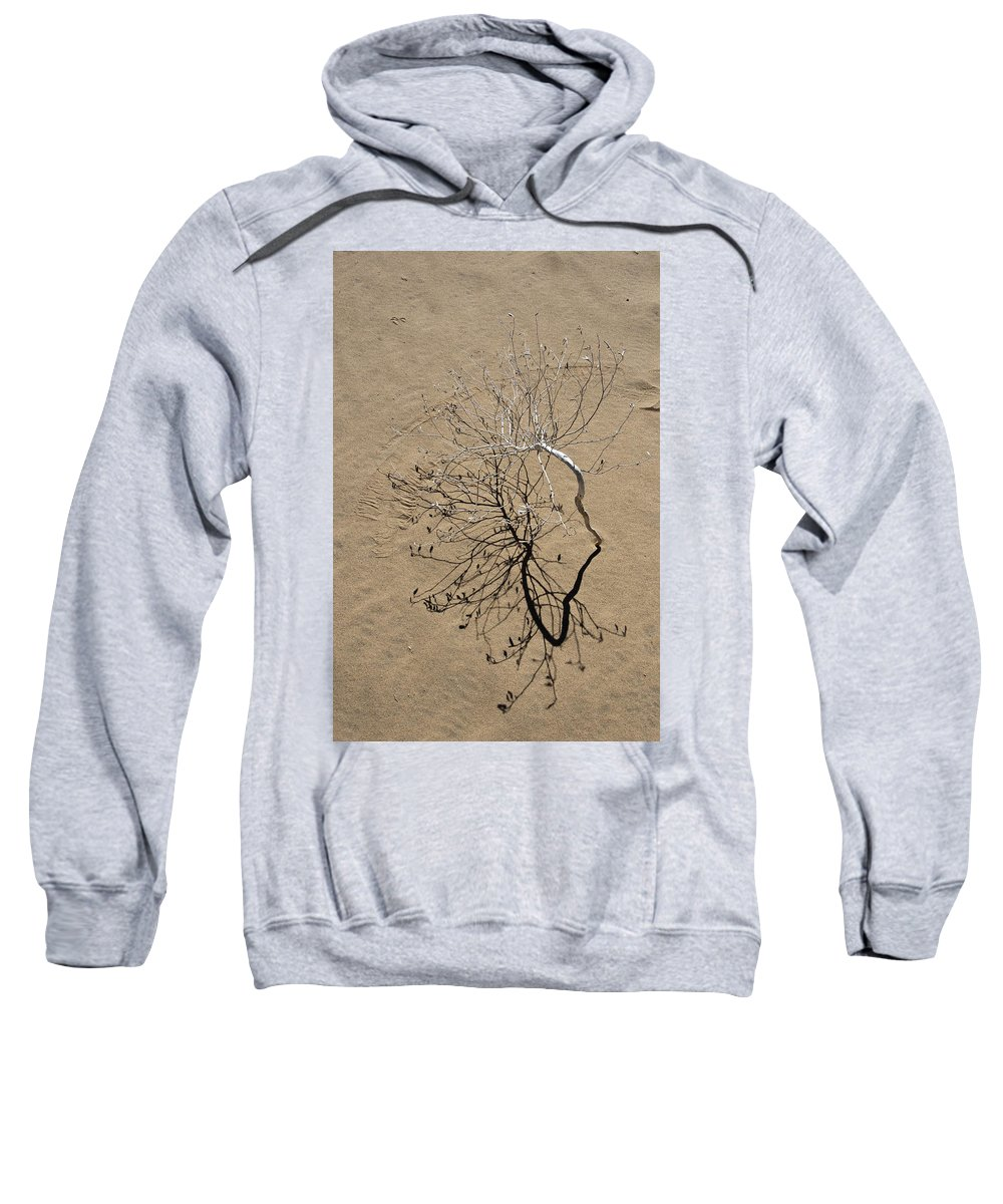 Sand Dune Sweatshirt featuring the photograph Message In The Sand by Chris Brannen