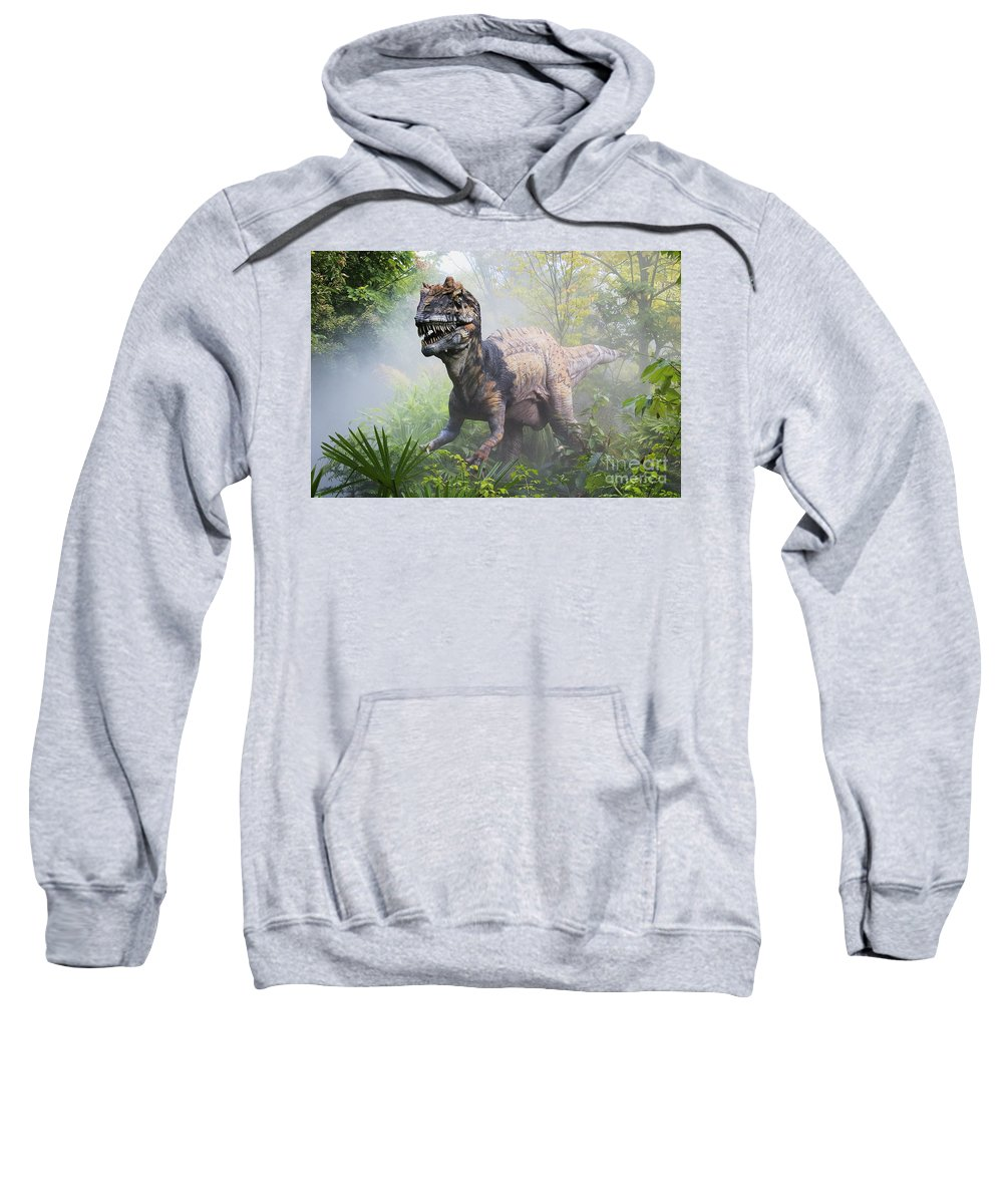Dinosaur Sweatshirt featuring the photograph Metriacanthosaurus by David Davis and Photo Researchers