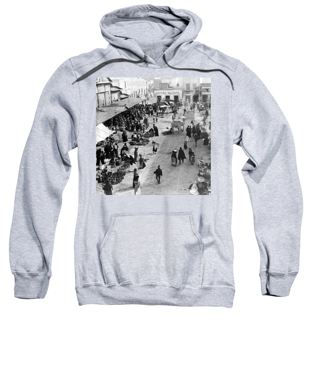 mexico City Sweatshirt featuring the photograph Mexico City - C 1901 by International Images