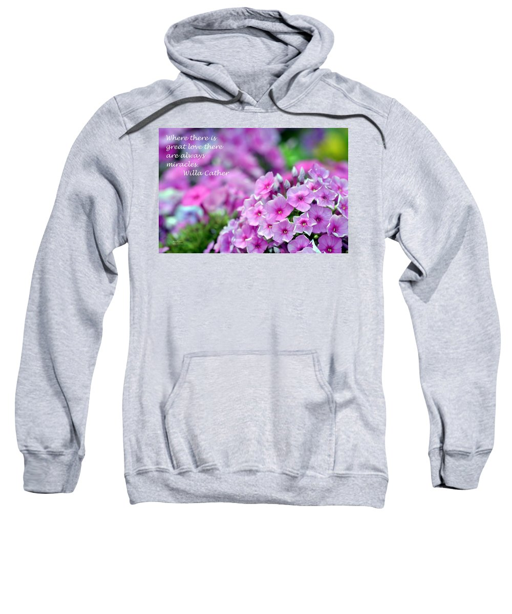 Miracles Sweatshirt featuring the photograph Miracles by Maria Urso