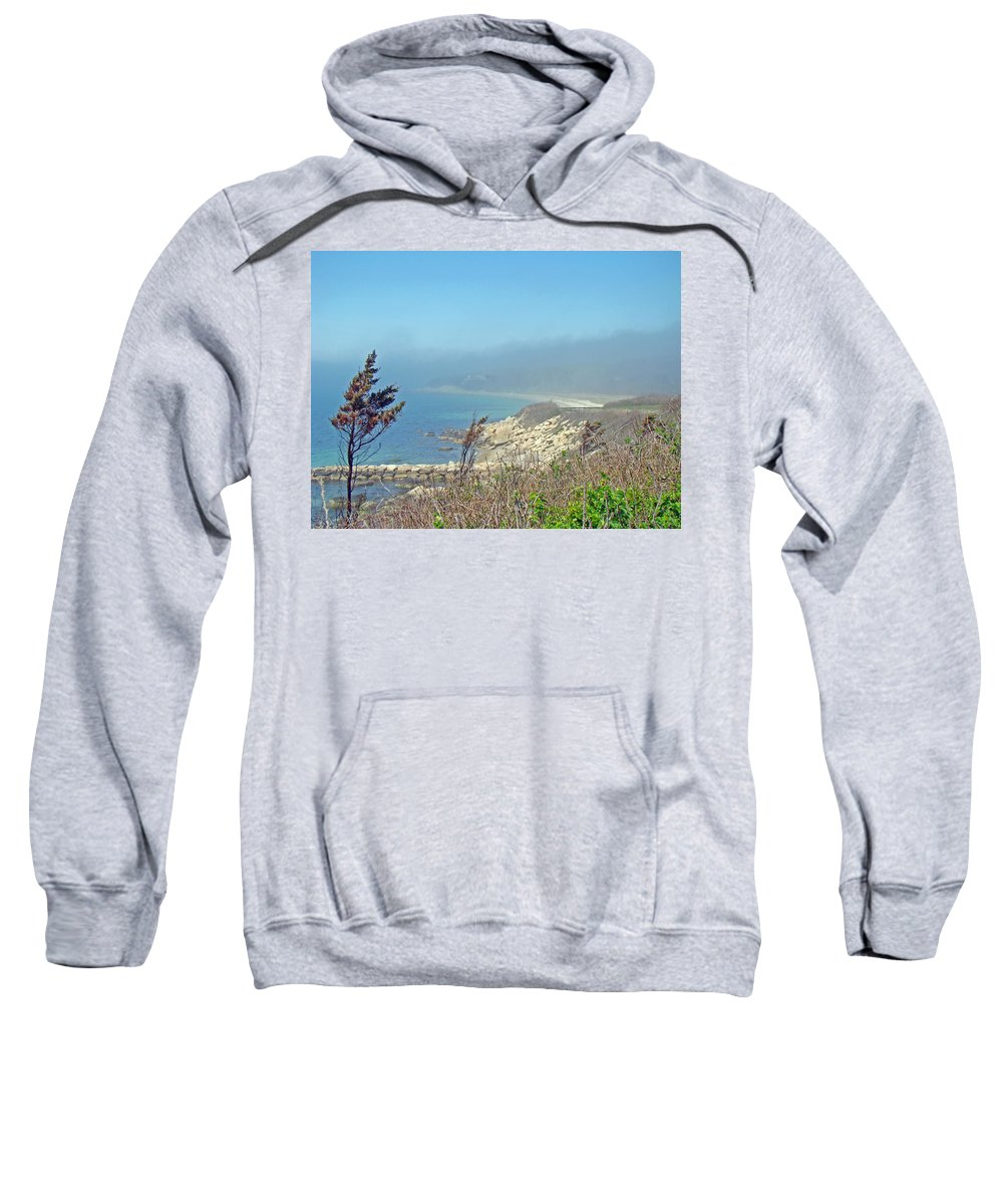 Landscape Sweatshirt featuring the photograph Misty View From Nobska Point - Woods Hole Ma by Mother Nature