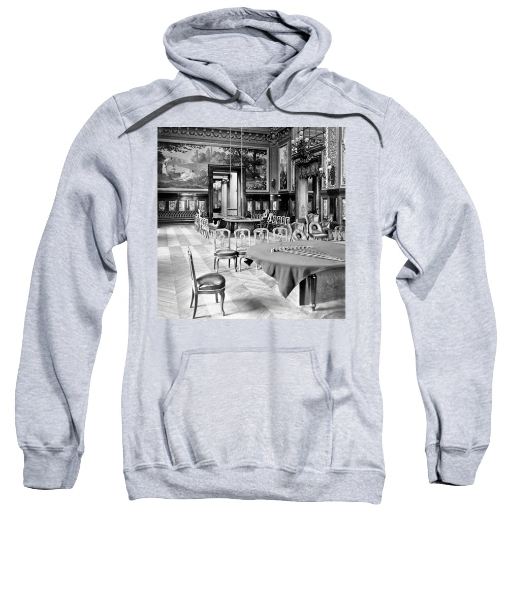 monte Carlo Sweatshirt featuring the photograph Monte Carlo - Gambling Hall - C 1900 by International Images