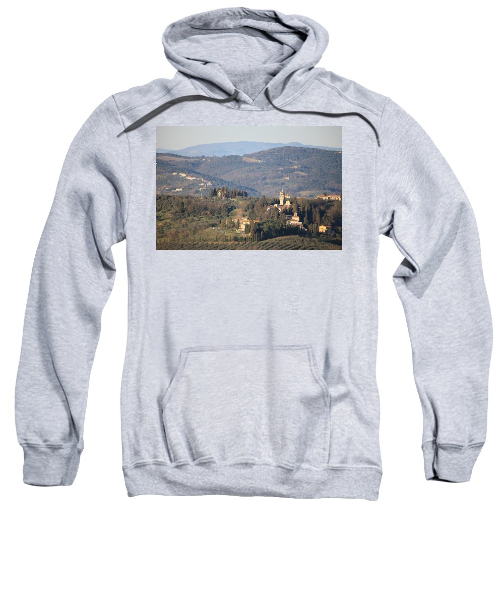 Castle Sweatshirt featuring the photograph Montegufoni Castle by Francesco Scali