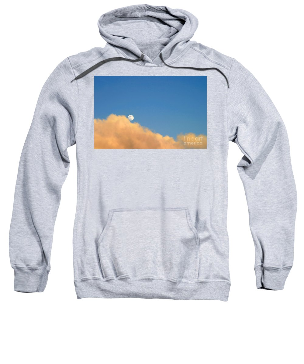 Ventura Sweatshirt featuring the photograph Moon At Sunset by Henrik Lehnerer