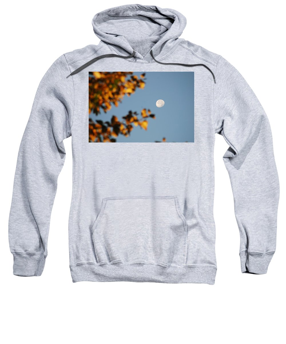 Moon Sweatshirt featuring the photograph Moonset Morning by Michael Merry