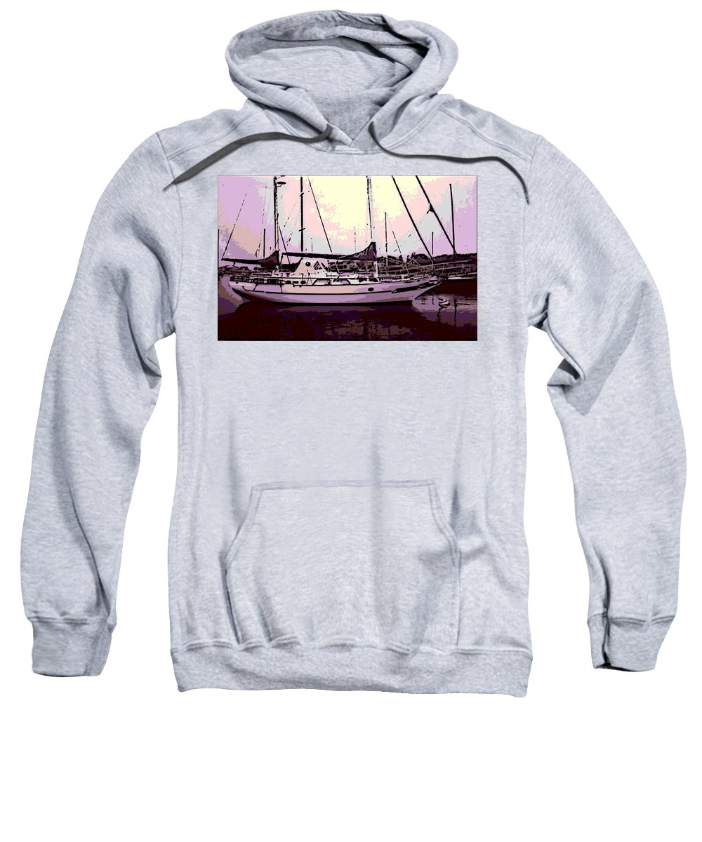 Sail Boat Sweatshirt featuring the photograph Moored by George Pedro