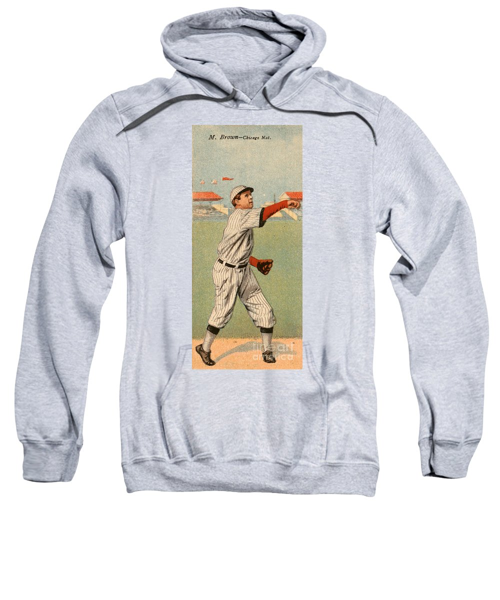 1911 Sweatshirt featuring the photograph Mordecai Brown (1876-1948) by Granger