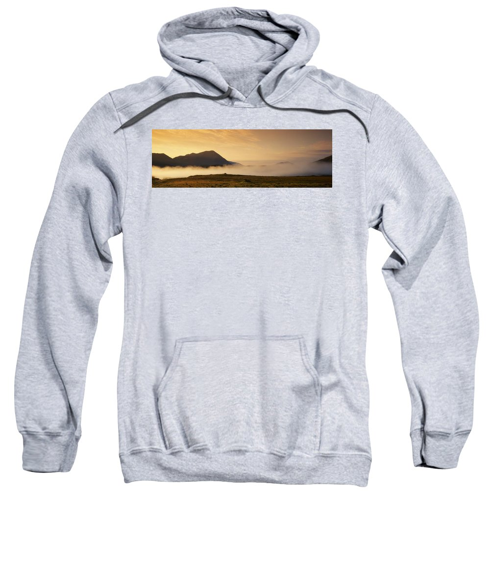 Color Image Sweatshirt featuring the photograph Morning Mist, Connemara, Co Galway by The Irish Image Collection