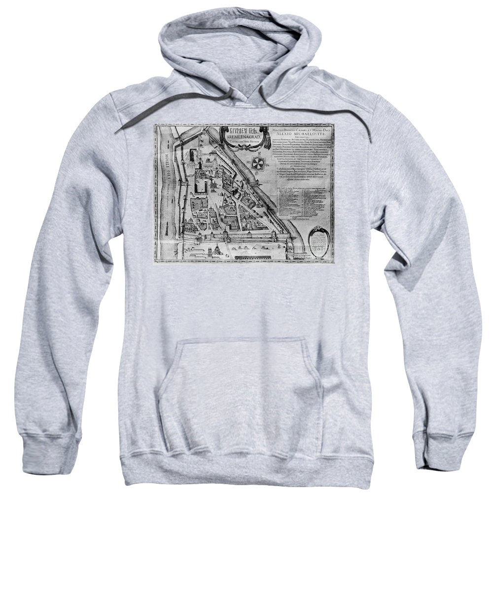 17th Century Sweatshirt featuring the photograph Moscow: Map, 17th Century by Granger