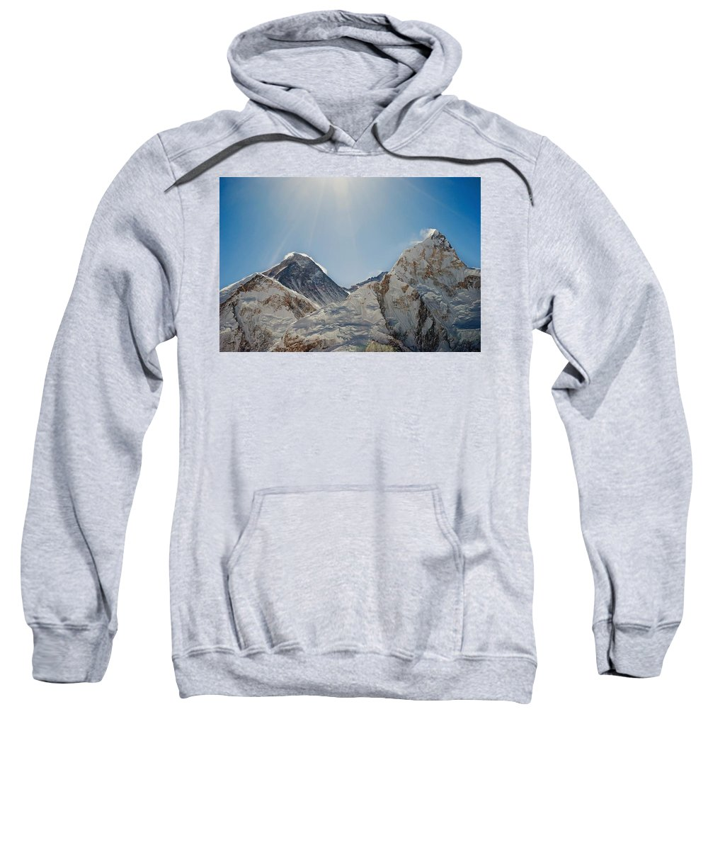 Color Image Sweatshirt featuring the photograph Mount Everest And Nuptse Khumbu, Nepal by Philippe Widling