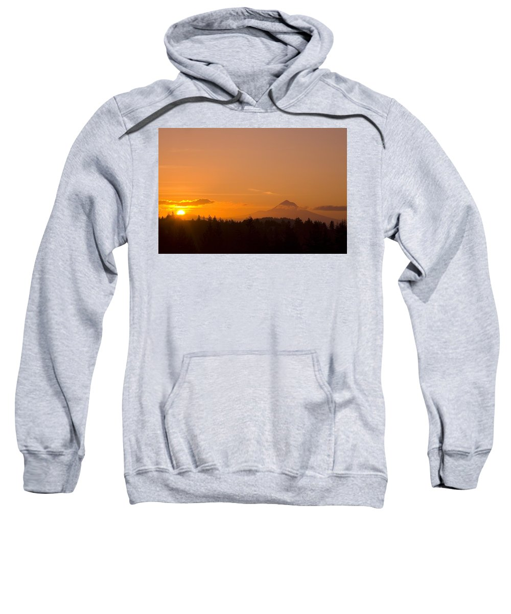 Beauty In Nature Sweatshirt featuring the photograph Mount Hood, Oregon, Usa by Craig Tuttle