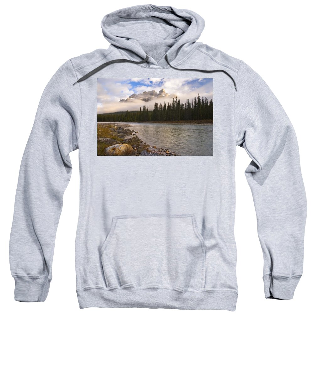 Banff National Park Sweatshirt featuring the photograph Mountain Landscape by Philippe Widling