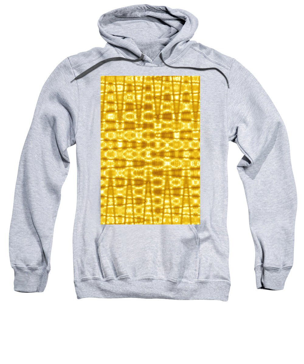 Moveonart! Global Gathering. Branch goldenblanket -- Digital Abstract Art By Artist Jacob Kane Kanduch -- Omnetra Sweatshirt featuring the digital art Moveonart Goldenblanket by Jacob Kanduch