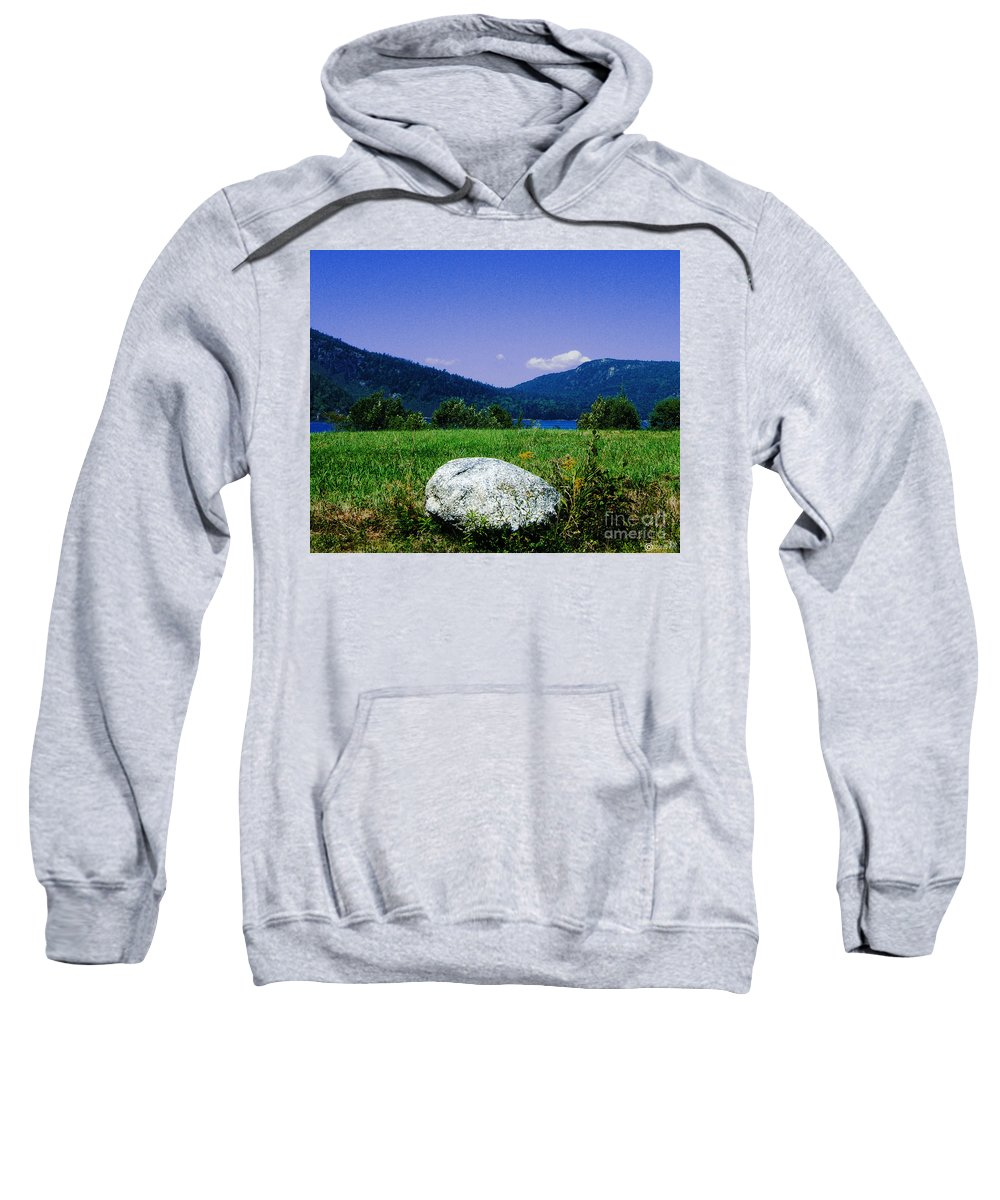 Boulder Sweatshirt featuring the photograph Mt Desert Island Maine by Lizi Beard-Ward