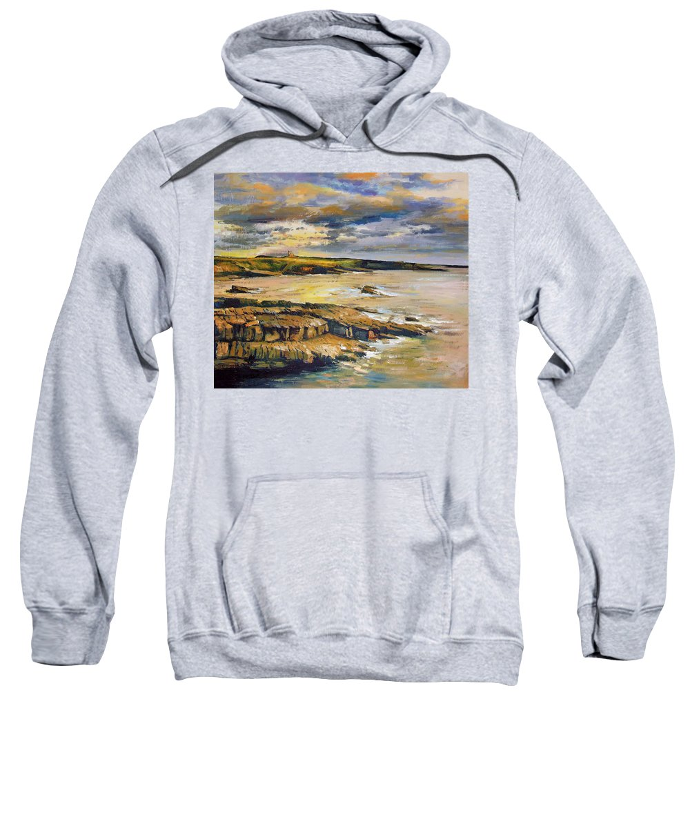Mullaghmore Sligo Sweatshirt featuring the painting Mullaghmore County Sligo by Conor McGuire