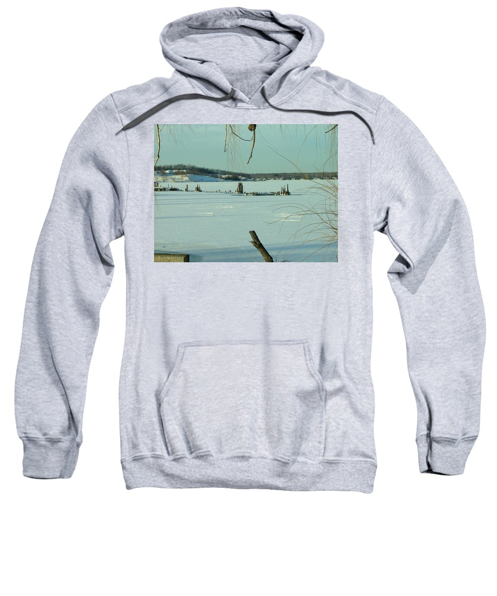 Landscape Sweatshirt featuring the photograph Muskegon Lake by Dennis Pintoski
